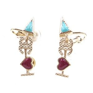 ea5dc7f3fda9fa Turquoise Cc Arrow Clip On and Pierced Earrings